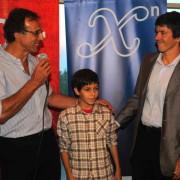 Enrique Baliño con Gonzalo y Guillermo Spinelli